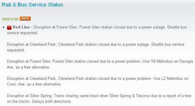 Disruption...power is out...BUT ARE THE TRAINS STILL RUNNNING?