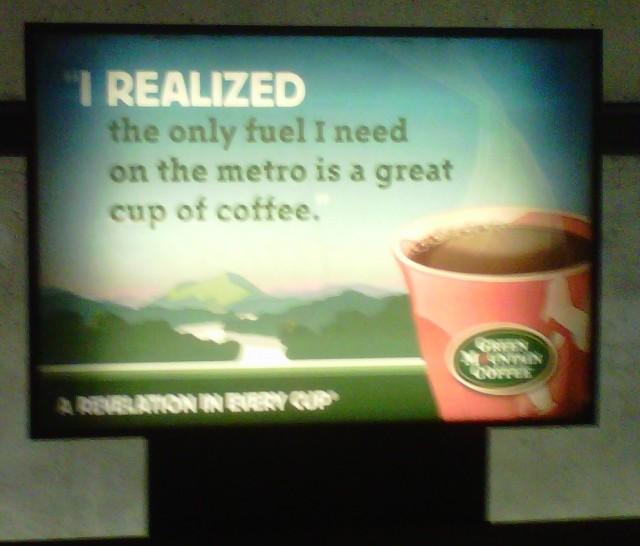 A coffee company advocates for civil disobedience.