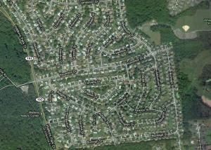 Prince George's County or Florida: Who can tell? From Google Maps.