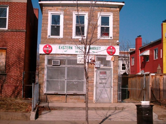 The Eastern Thrifty Market. It will be interesting to see what a buyer does with this building. Will it be a store, become a house and apartments, or perhaps be leveled?