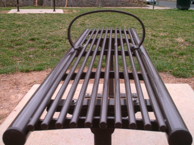 This has to be the most uncomfortable bench I have ever attempted to relax on.