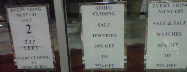 If the jewelry store marketed itself towards tourists, would it have survived?